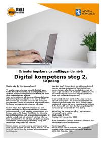 Broshyr med info om kurs Digital kompetens steg 2